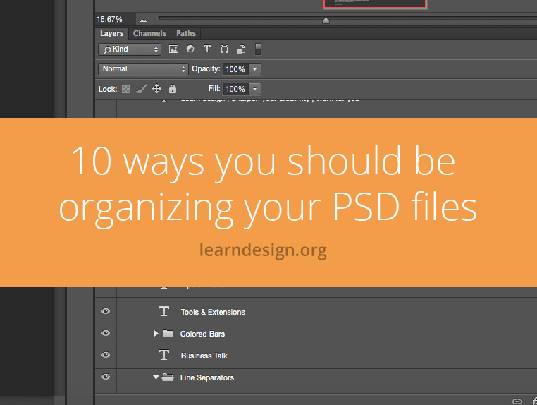 10 ways you should be organizing your psd files